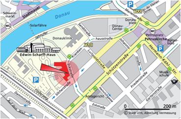 Kartenausschnitt, Neu-Ulm, Eckstraße 3