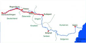 Von Donaueschingen bis Budapest