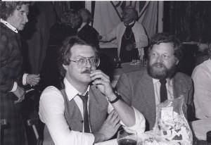 Siegbert Kollmann, Klaus Guhl beim Feiern