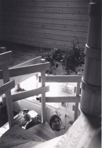 Treppe, ehemaliges FH, sw