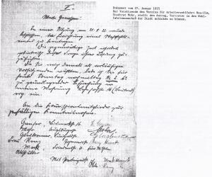 Antrag ,einen Vertreter in den städtischen Wohlfahrtsausschuß zu entsenden  1925
